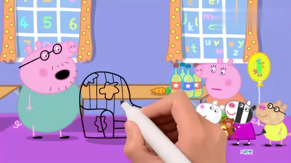 儿童简笔画:小猪佩奇不喜欢猪爸爸的旧沙发