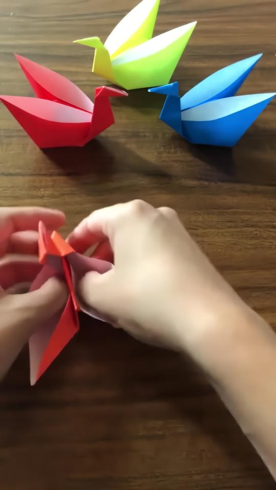 紙鈔心形折纸步骤图解