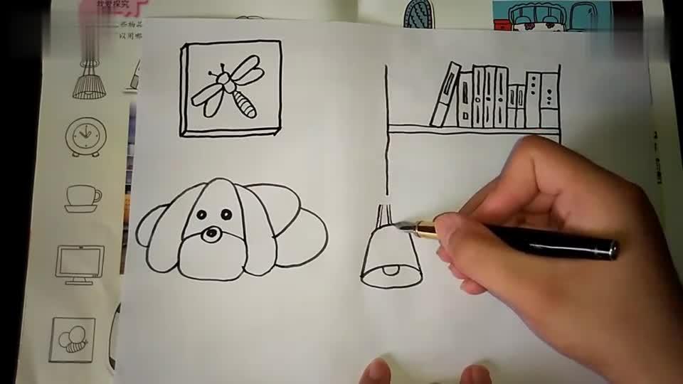 跟李老师学画画:闹钟 可爱的家人