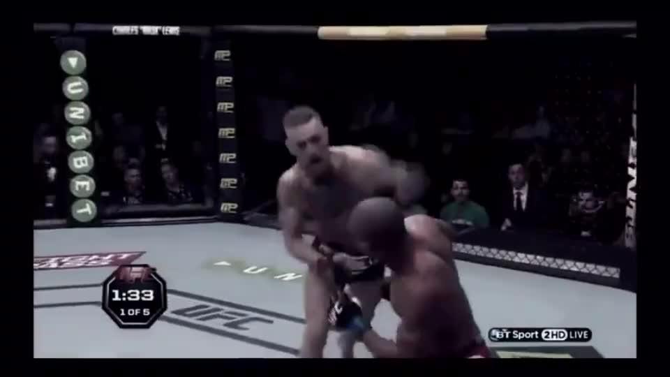 UFC格斗嘴炮康纳 暴揍达斯汀普瓦里尔