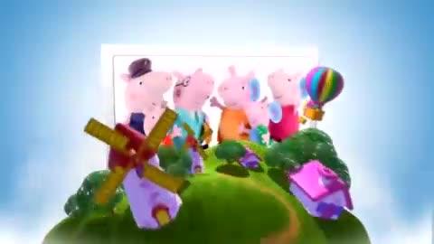 儿童过家家玩具视频 粉红小猪佩奇和宝宝