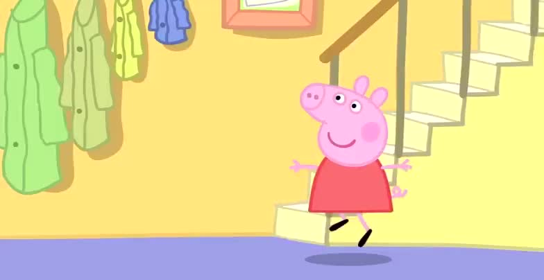 《小猪佩奇》佩琪和朋友这个动作真是可爱极了