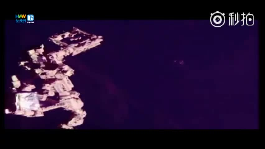 国际空间站附近现神秘三角形UFO 如同战舰大小