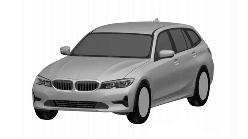 2019款宝马3系旅行车专利图曝光 或于明年正式发布