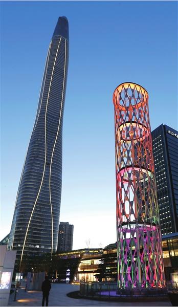 全球第八高楼在天津滨海新区建成