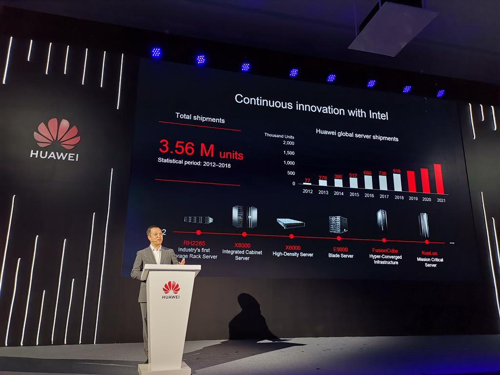 六年增长12倍!华为服务器2018年出货91.8万台