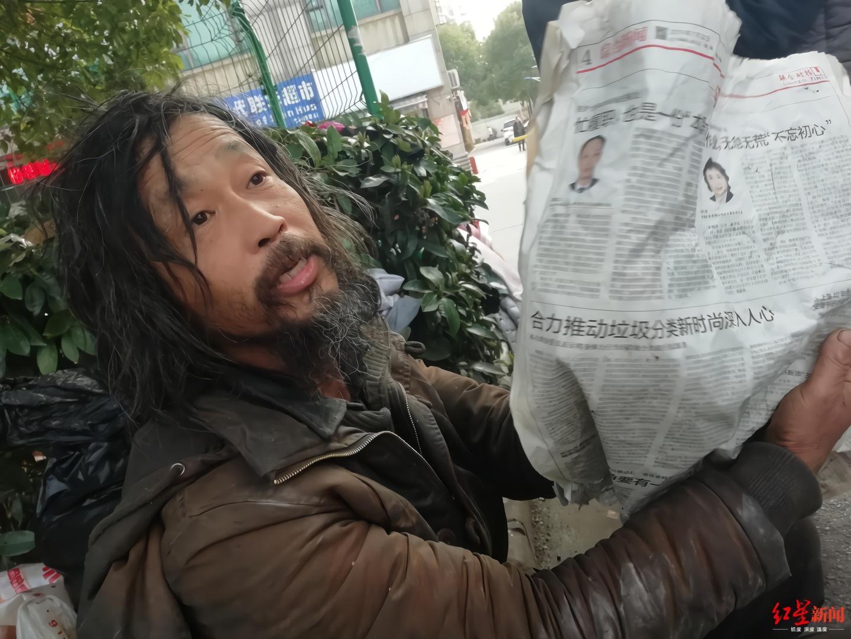 """上海""""博学""""流浪汉:网上走红不能改变我的命运"""