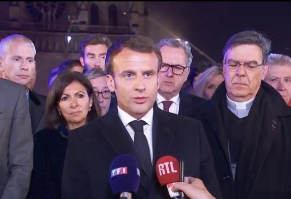 巴黎圣母院火灾后如何重建?马克龙:发起国际募款