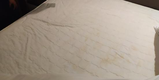游客入住如家酒店 發現床單有大片尿跡和卷曲毛發