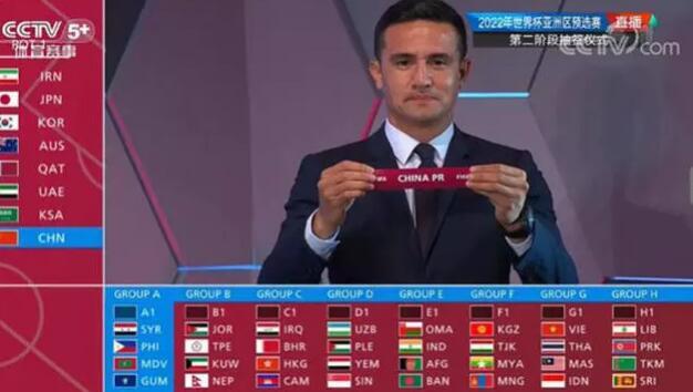 世预赛40强赛抽签:国足进A组 与叙利亚、菲律宾交手