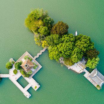 铜陵:天井湖公园秋景美如画