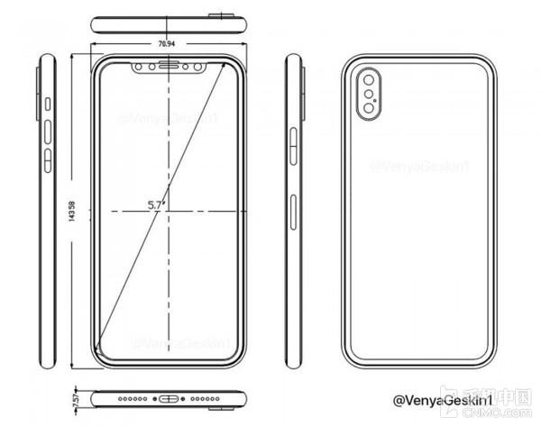 iPhone 8设计草图