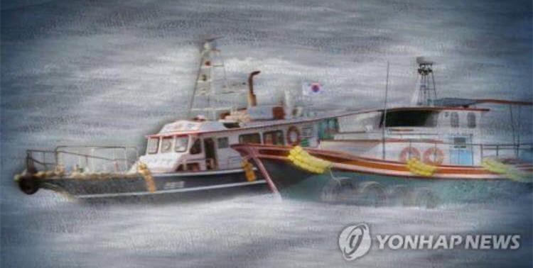 近海渔船图片_韩国近海渔船与货运船相撞 一人坠海失踪_凤凰资讯