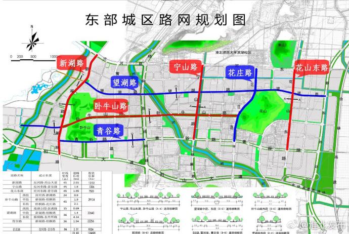 淮北中湖规划图_淮北东部城区路网规划图