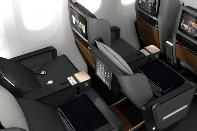 澳洲航空公司(qantas)公布了其787-9 dreamliner客機的高端經濟艙.圖片