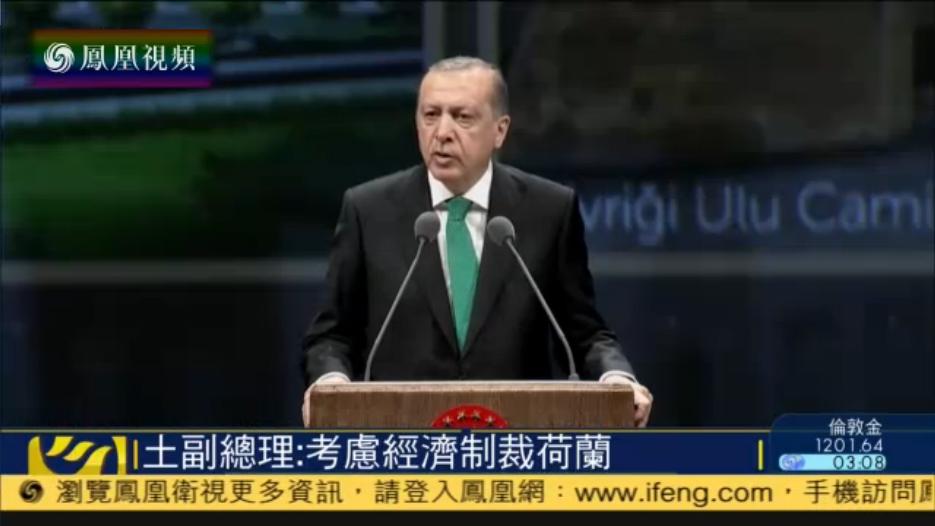 """土耳其總統指責德國和荷蘭是""""強盜國家"""""""