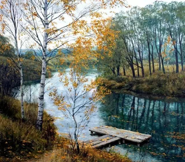 Станислава Брусилова風景油畫作品