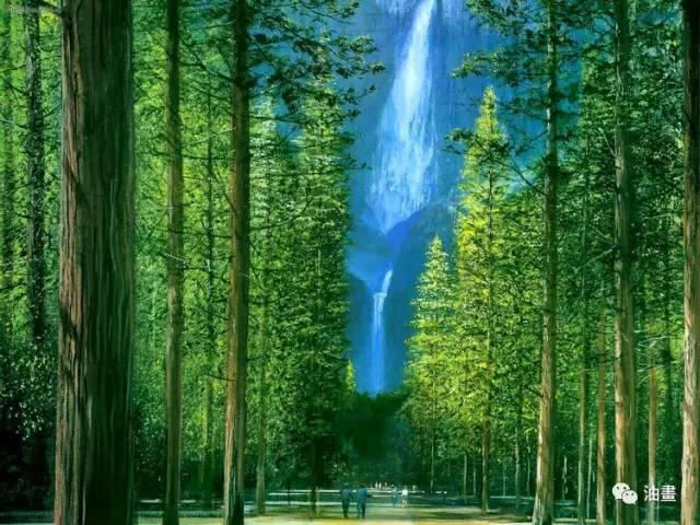 英國藝術家peter ellenshaw風景油畫作品欣賞