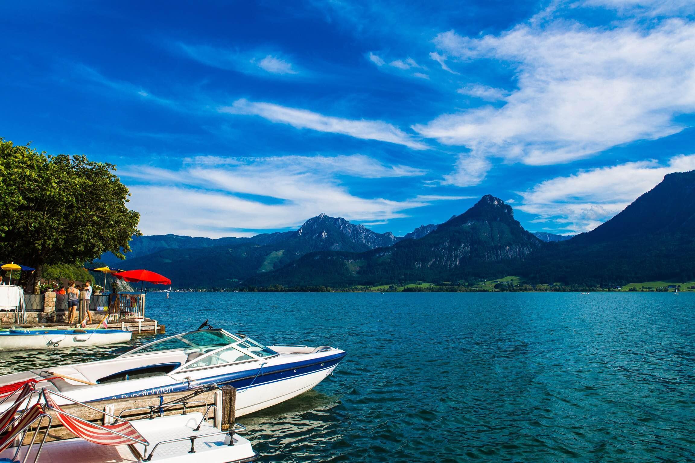 湖_奥地利美丽迷人的圣沃尔夫冈湖区