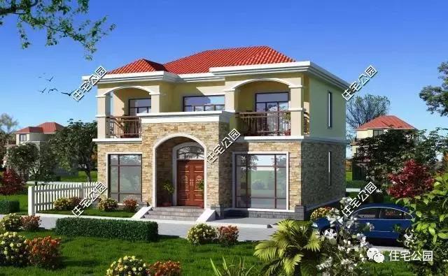 住宅公園最經典戶型,13x14米2層小別墅,蓋房就選這個!