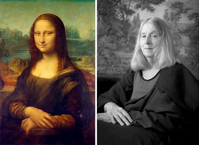 老太太zipai_66岁老太太玩自拍 创意模仿世界名画高度还原