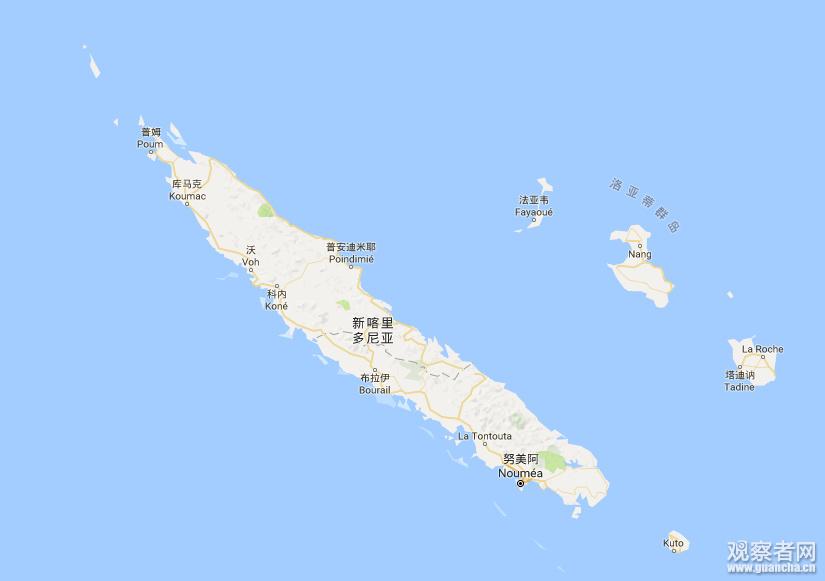 南太平洋幼女性交平_位于南太平洋的新喀里多尼亚图源:谷歌地图