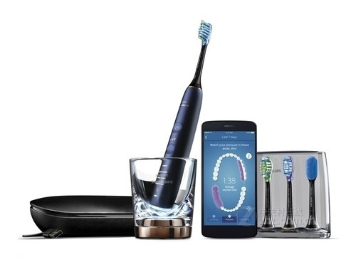 飞利浦HX9954/52 内置感应芯片,可配合APP使用,4大智臻刷头,刷牙模式自动匹配