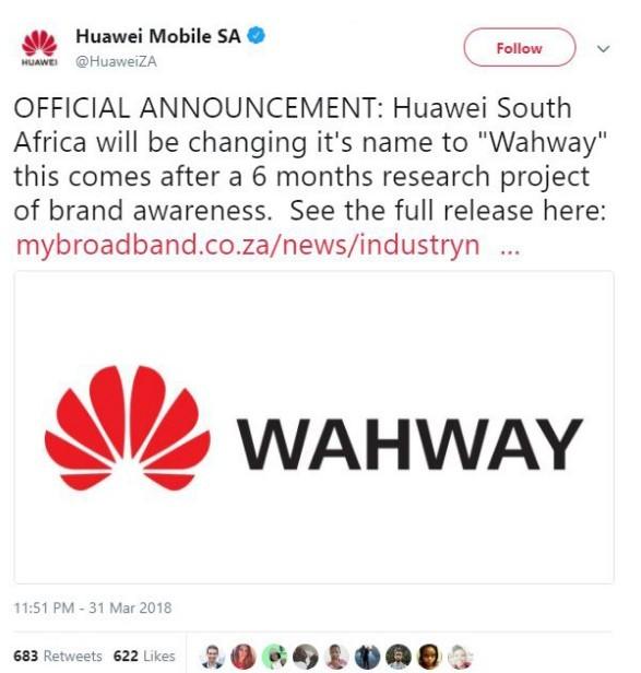 HUAWEI改名Wahway 只為讓國外用戶易發音