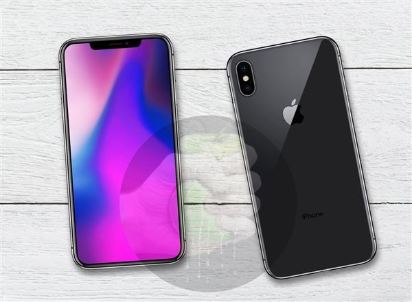 苹果三款iPhone X外形渲染图:延续现款刘海屏外形