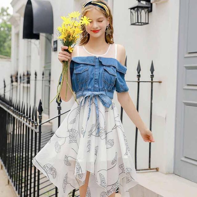 18年夏天流行,减龄必备的牛仔连衣裙