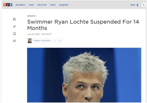 因为一张照片,美国泳坛名将罗切特被禁赛14个月