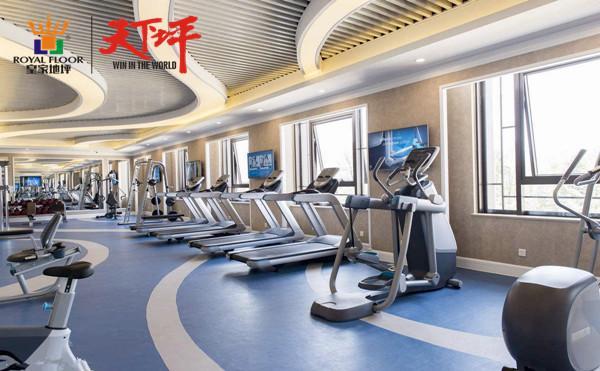 设备齐全的健身房地面选择氟硅弹性地坪