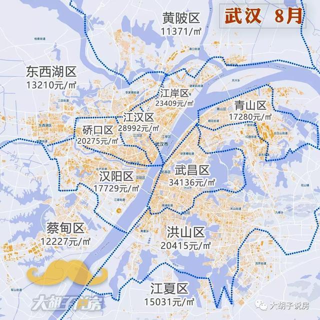 房价真跌了?2018年8月热门城市房价地图出炉!