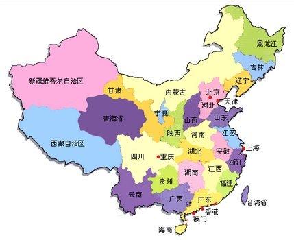 2018中国地图