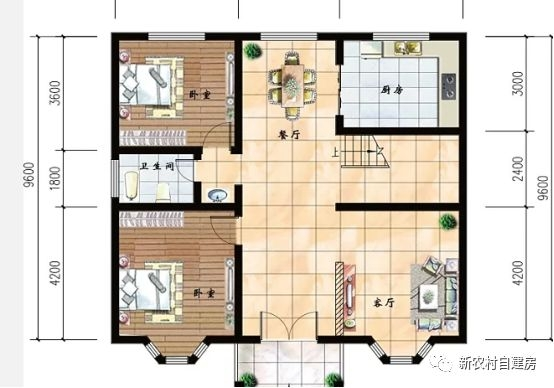 4款農村100平方自建房設計圖 是房子更是傳家寶 款款
